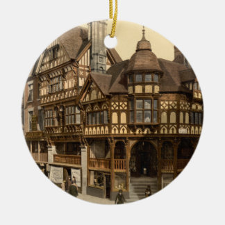 The Cross and Rows, Chester, Cheshire, England Ceramic Ornament