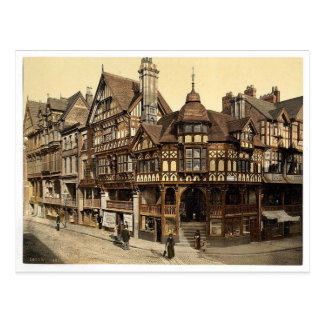 The Cross and Rows, Chester, England vintage Photo Postcard