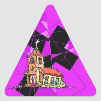 The Cross and The Chapel Triangle Sticker