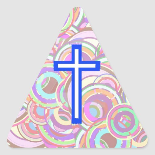 The Cross and The Circles. Triangle Sticker