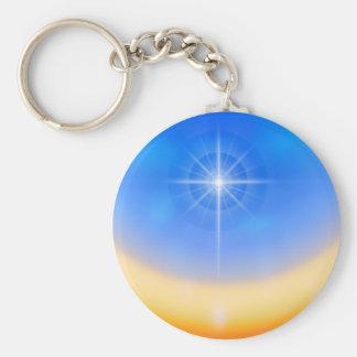 The Cross Basic Round Button Keychain