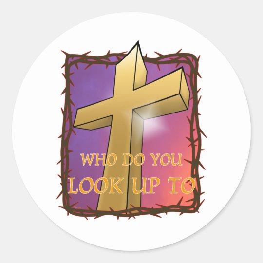 The Cross Classic Round Sticker