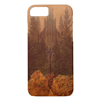 The Cross in the Mountains, 1812 (oil on canvas) iPhone 7 Case