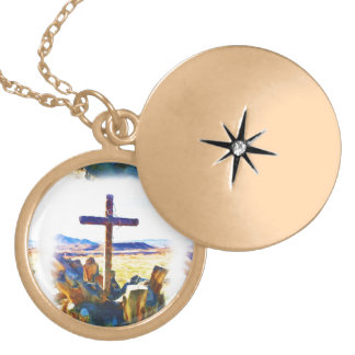 The Cross of Salvation-Saved_ Gold Plated Necklace