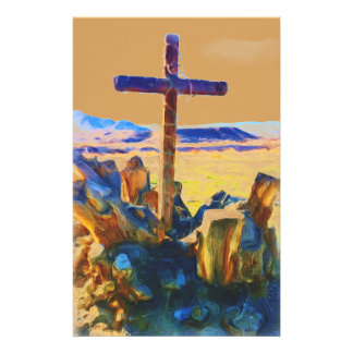 The Cross of Salvation-Saved_ Personalized Stationery