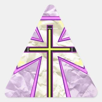 The Cross on Foil> Triangle Sticker