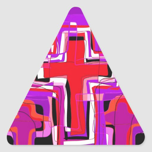 The Cross Triangle Sticker