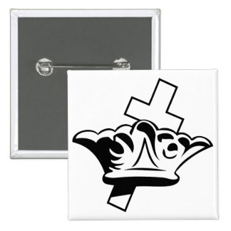 The Cross & The Crown 2 Inch Square Button
