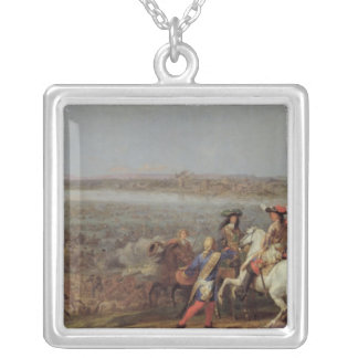 The Crossing of the Rhine, 12th June 1672 Silver Plated Necklace