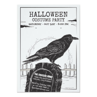 The Crow Halloween Costume Party Invitation