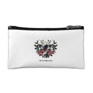 The Crow Laughing Awfully Cosmetic Bag
