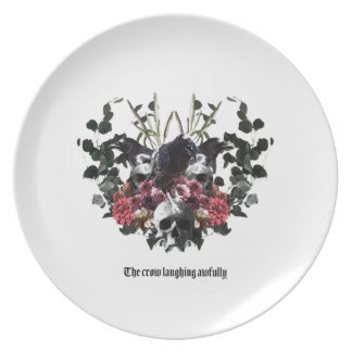 The Crow Laughing Awfully Plate