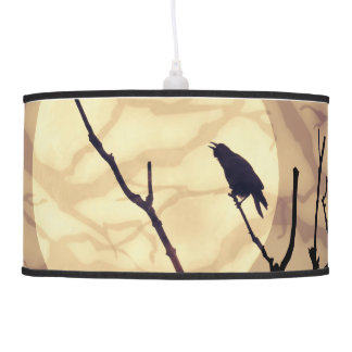 The Crow, The Moon, The Shadows Pendant Lamp