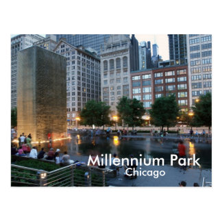 The Crown Fountain, Millennium Park, Chicago Postcard