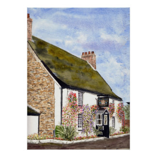 'The Crown Inn (St. Ewe)' Print