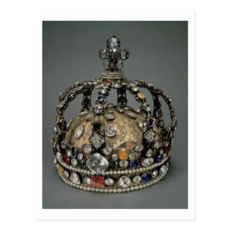 The Crown of Louis XV, 1722 (gilded silver, replac Postcard