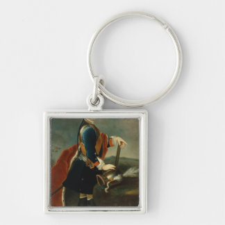 The Crown Prince Frederick II, c.1736 Silver-Colored Square Keychain