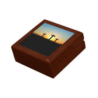 The Crucifixion Crosses at Sunset Gift Box