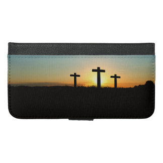 The Crucifixion Crosses at Sunset iPhone 6/6s Plus Wallet Case