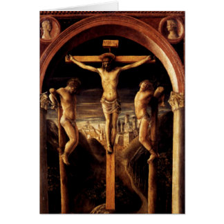 The Crucifixion of Jesus by Vincenzo Foppa - 1456 Card