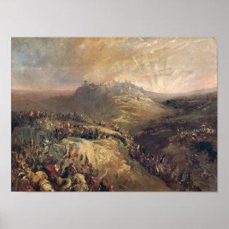 The Crusaders Before Jerusalem Poster