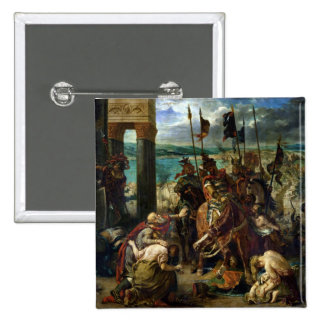 The Crusaders' entry into Constantinople 2 Inch Square Button