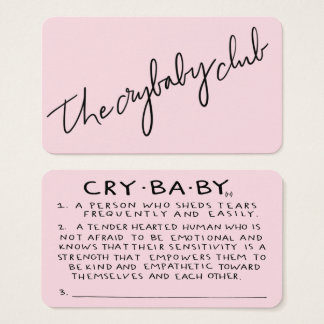 The Crybaby Club Membership Cards