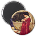 """""""The Crystal Ball"""" by John William Waterhouse Magnets"""