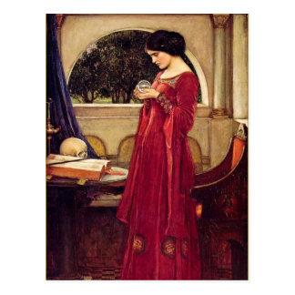 """The Crystal Ball"" by John William Waterhouse Postcard"