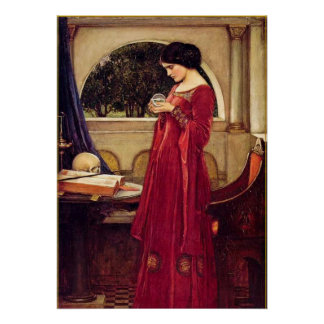 """The Crystal Ball"" by John William Waterhouse Poster"