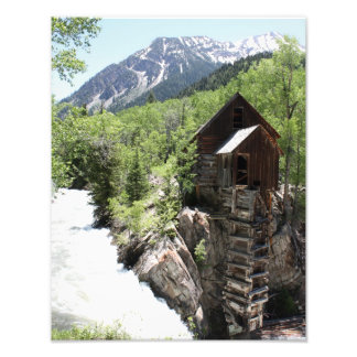 The Crystal Mill atop a Waterfall Photo
