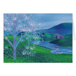 The Crystal Tree - Spring Card