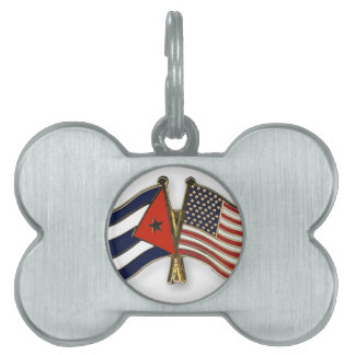 The Cuban Flag and the American Flag Pet ID Tags