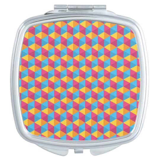 The Cube Pattern I Compact Mirror
