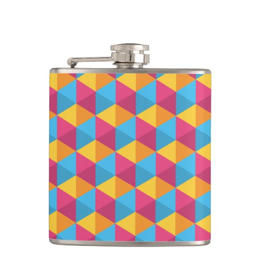 The Cube Pattern I Hip Flask