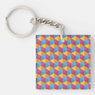 The Cube Pattern I Keychain