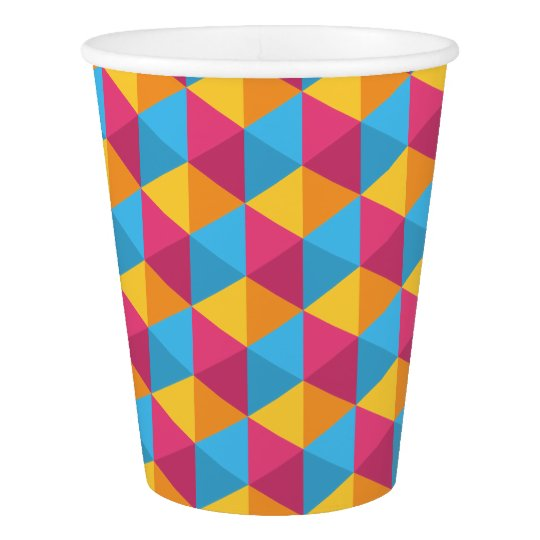The Cube Pattern I Paper Cup