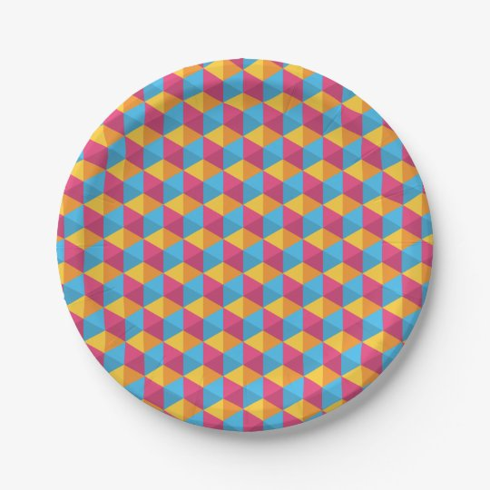 The Cube Pattern I Paper Plate