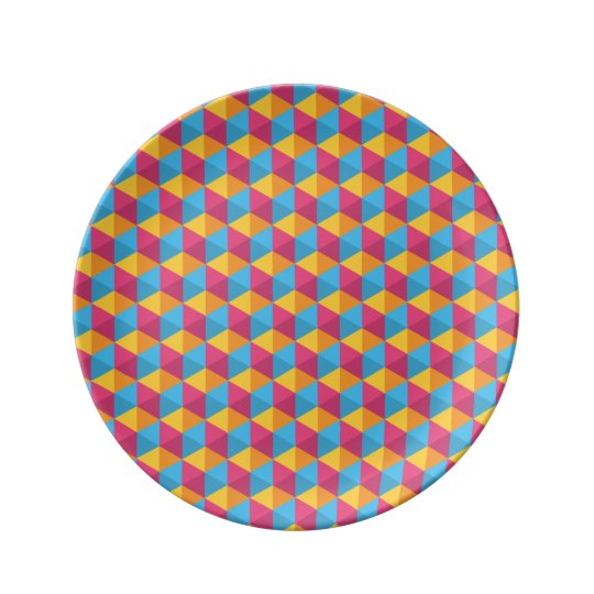 The Cube Pattern I Plate
