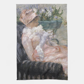 The Cup of Tea by Mary Cassatt Kitchen Towel