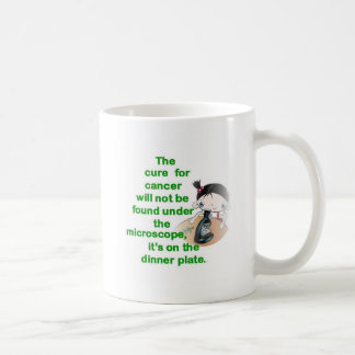 THE CURE FOR CANCER WON'T BE FOUND UNDE THE MICRO COFFEE MUG