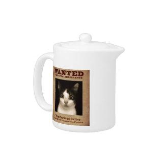 The Curious Calico Kitten Tea Pot