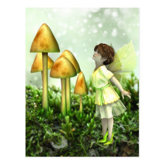The Curious Fairy - Fairy and Toadstools Postcard