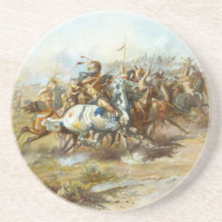 The Custer Fight by Charles Marion Russell Coaster