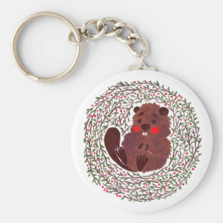 The Cute Baby Beaver Keychain