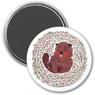 The Cute Baby Beaver Magnet