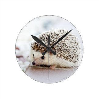 The Cute Baby Hedgehog Round Clock