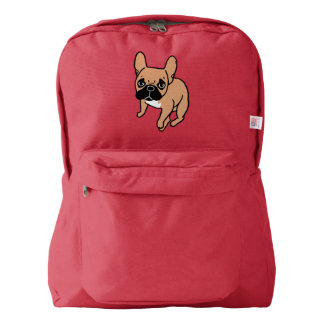 The Cute Black Mask Fawn Frenchie Needs Attention Backpack