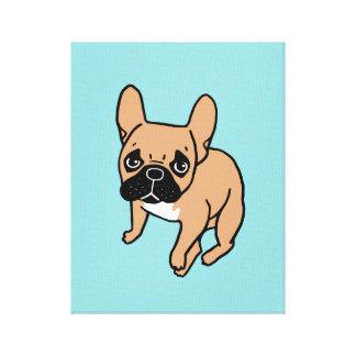 The Cute Black Mask Fawn Frenchie Needs Attention Canvas Print