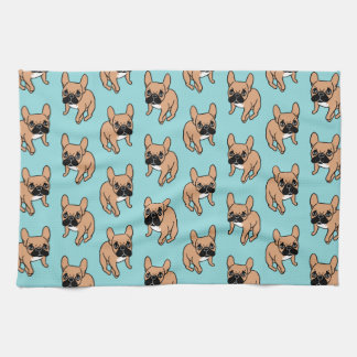 The Cute Black Mask Fawn Frenchie Needs Attention Kitchen Towel